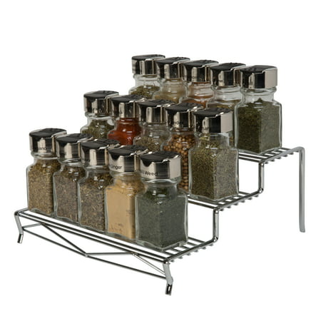 Kitchen Details Geode 3 Tier Spice Rack in Chrome