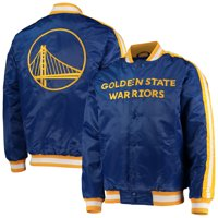 Golden State Warriors Starter The Offensive Varsity Satin Full-Snap Jacket - Royal