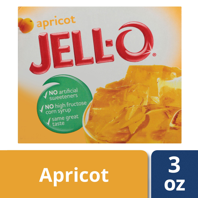 (3 Pack) Jell-O Apricot Gelatin Mix, 3 oz Box
