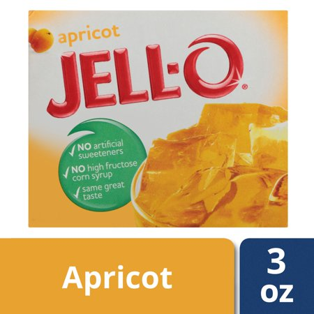 (4 Pack) Jell-O Apricot Gelatin Mix, 3 oz Box - Jello Pudding Halloween Desserts