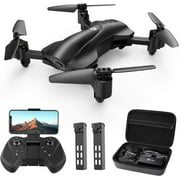 Holy Stone HS165 Drone with 2K Camera RC Quadcopter Drone with GPS Return Home Follow Me 2 Batteries Black