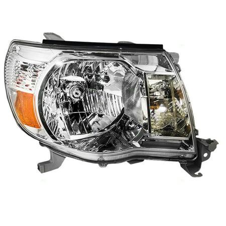 - Passengers Headlight Headlamp with Chrome Bezel Replacement for Toyota Pickup Truck 8111004163