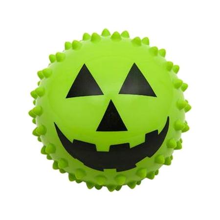 Halloween Jack-o-lantern Pumpkin Face Knobby Ball Toy Party Favor (Halloween Cheese Ball Face)