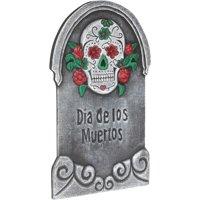 """Loftus Dia De Los Muertos Graveyard 22"""" Tall Tombstone, Grey Multi"""