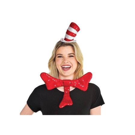 Cat And The Hat Hats (Cat in the Hat Bowtie and Hat)