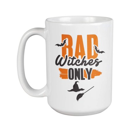 Things To Make For Halloween Dinner (Bad Witches Only With Witch Hat And Broomstick Halloween Theme Coffee & Tea Gift Mug Cup, Decor, Things, Kitchen Utensils, Containers, Merchandise, Party Supplies & Favors For Women & Girls)