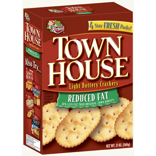 Keebler: Town House Light Reduced Fat Crackers, 13 Oz