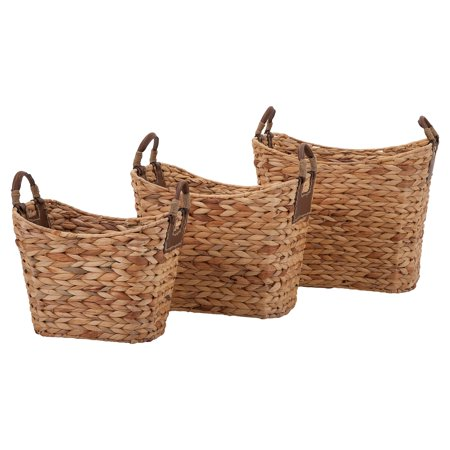 Captivating Set of 3 Niko Natural Weave Baskets