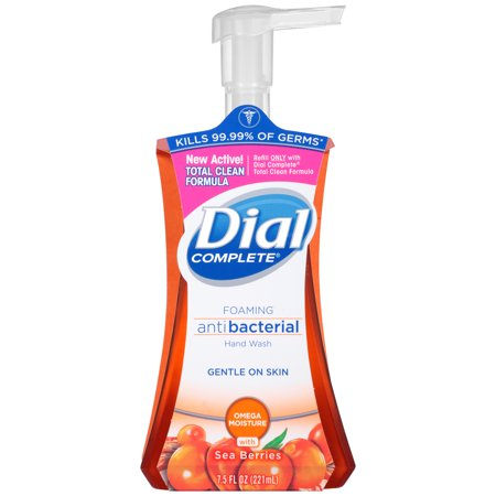 (4 Pack) Dial Complete Antibacterial Foaming Hand Wash, Omega Moisture, 7.5