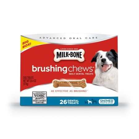 Milk-Bone Brushing Chews Daily Dental Dog Treats, Small/Medium/20.4 oz., Contains 1 - 20.4 oz Box; for dogs 25 - 49 lbs; 63 calories per bone By (Best Bongs In The World For Sale)