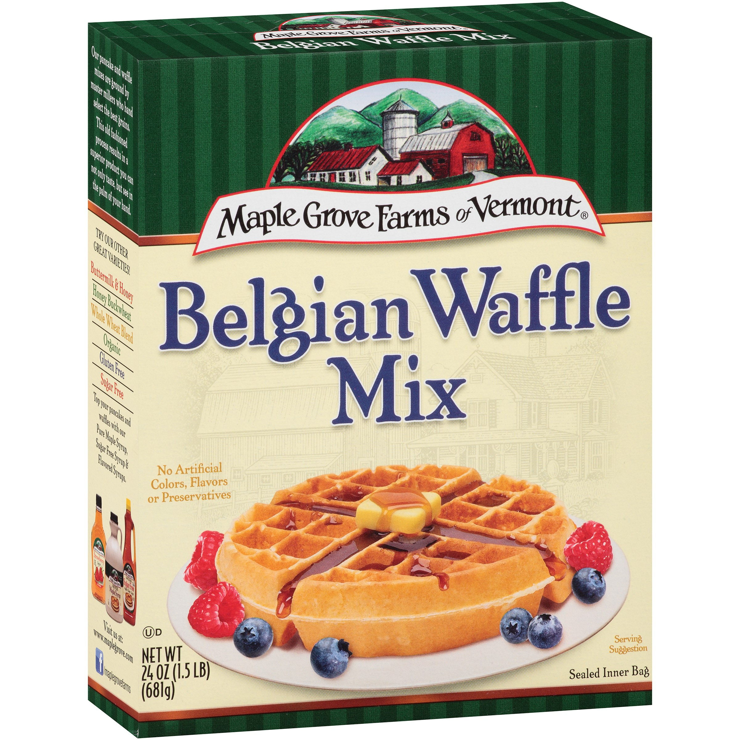 Maple Grove Farmers of Vermont All Natural Belgian Waffle Mix, 24.0 OZ by B&G