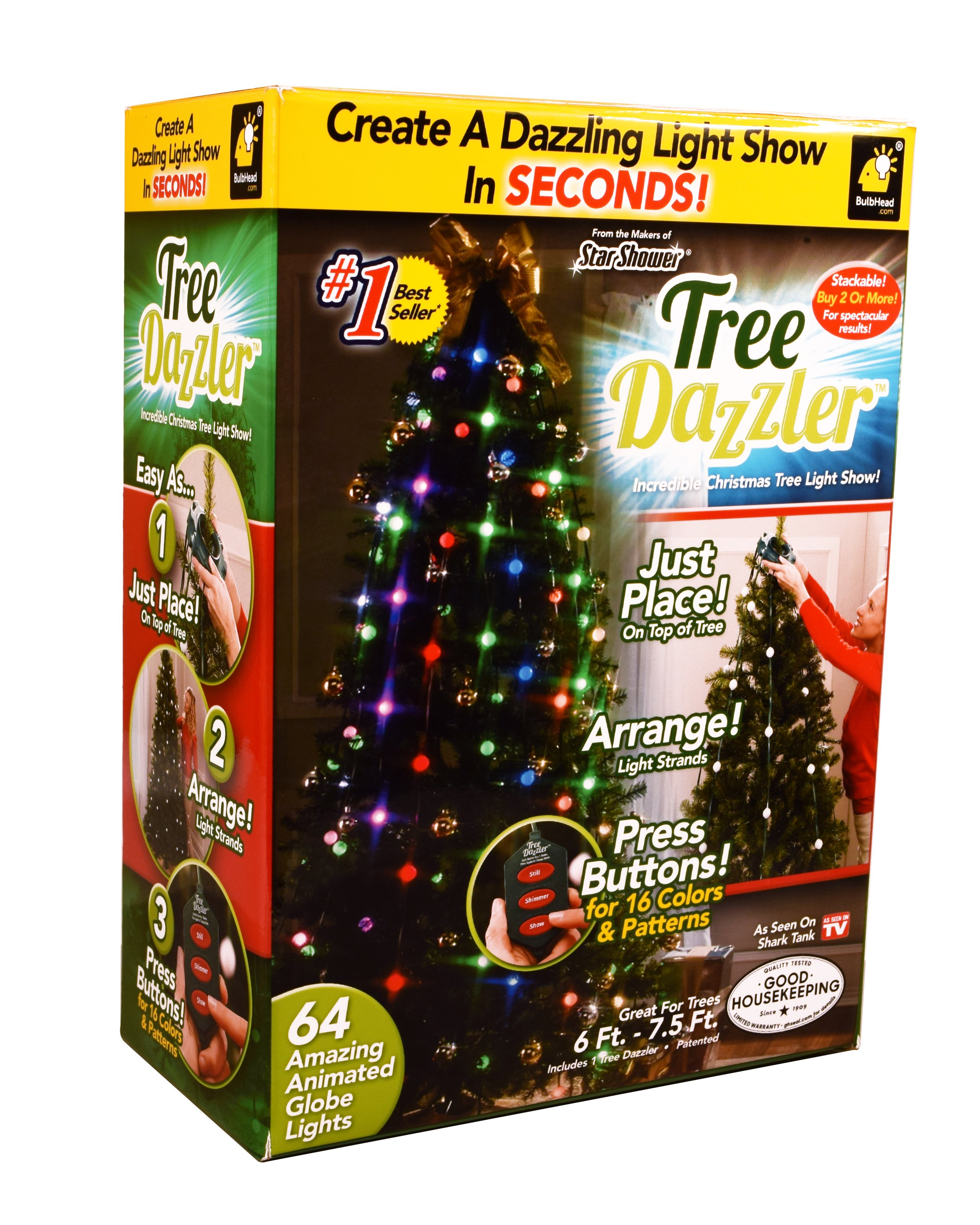 Captivating Tree Dazzler As Seen On TV/Shark Tank Christmas LED Lights Plastic Pictures
