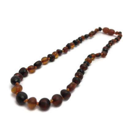 12.5 Inch Baltic Amber Teething Necklace Basic Baby Toddler ()