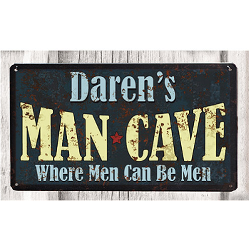 Personalized Metal Sign, Man Cave