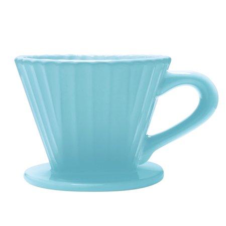 Chantal Lotus Ceramic #2 Coffee Filter Single Serve Coffee Maker - Aqua