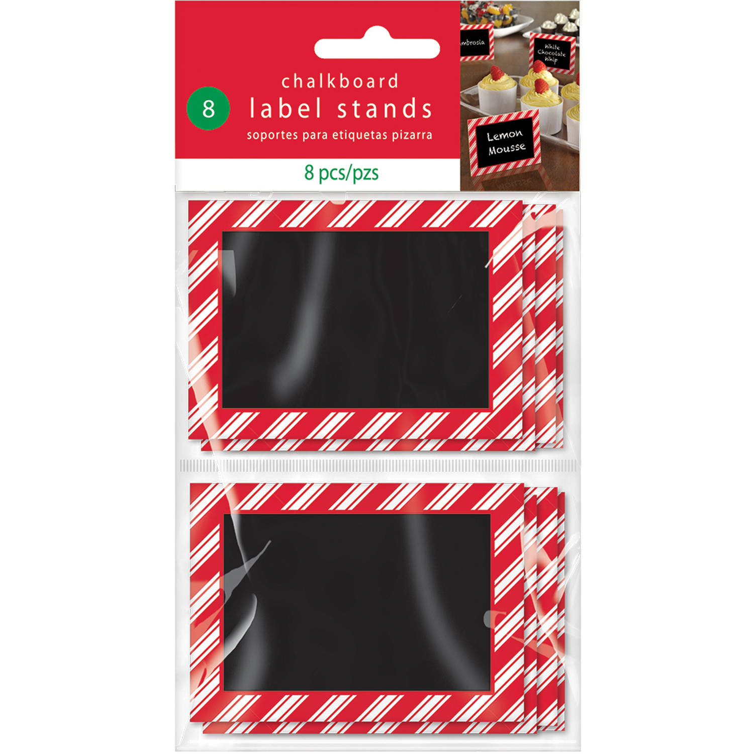 Christmas Chalkboard Label Stands, 8pk