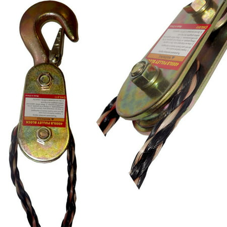 2 Ton Capacity Aluminum Steel Pulley Rope Load Lift Lifting Sheave Block Hook (3racing Aluminum Pulley)