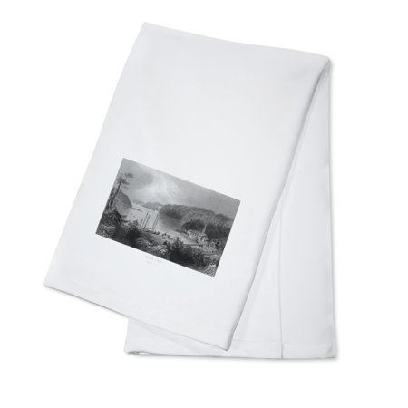 Saint John, New Brunswick, Canada - View of Indiantown at the Mouth of St. John River (100% Cotton Kitchen Towel)