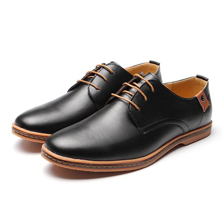Meigar Mens Oxford Dress Shoes Lace Up Leather Formal Shoes