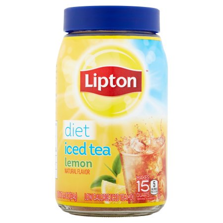 (4 Pack) Lipton Black Iced Tea Mix Diet Lemon 15 qt