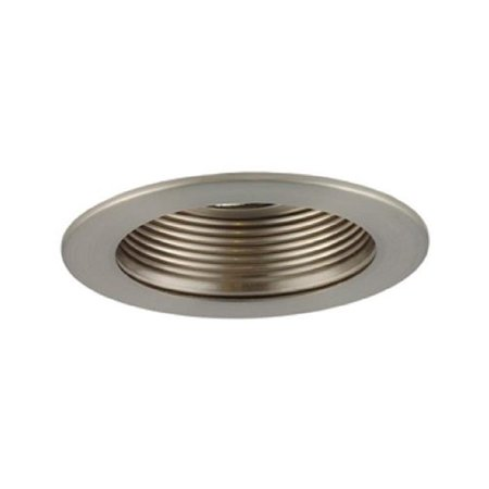 Aperture Low Voltage Trim Recessed Light, Adjustable Step Baffle, All Satin Chrome Finish 3 in.