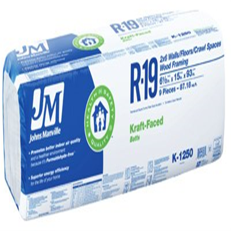 """Johns Manville Intl Inc R19 15""""x93"""" Kraft Batt"""