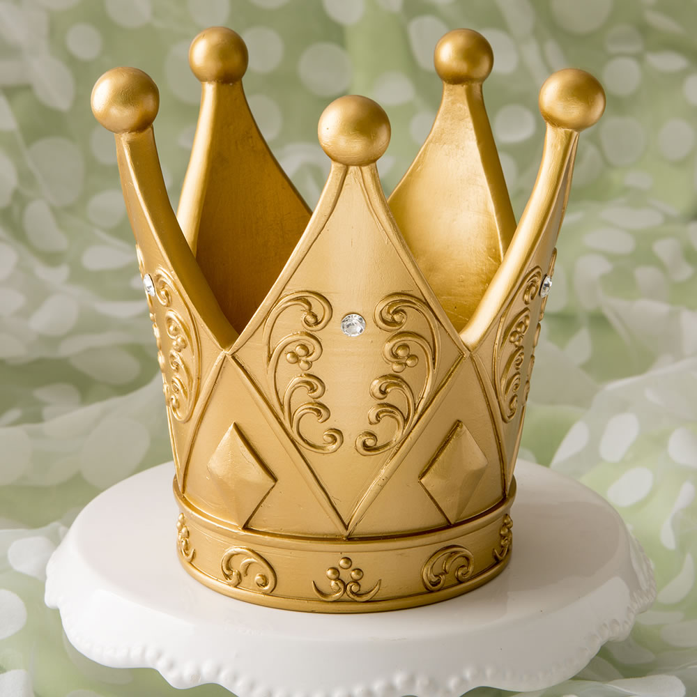 """6"""" Gold Centerpiece Crown Decoration For Cake Topper Centerpiece Great For Prince Princess Theme Party"""