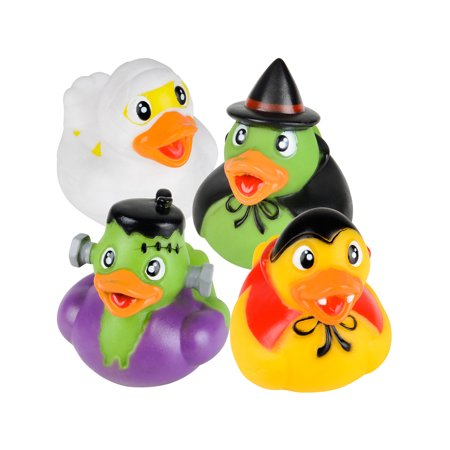 Set Of 12 Classic Halloween Monsters Rubber Duckies Bath Ducks Toys