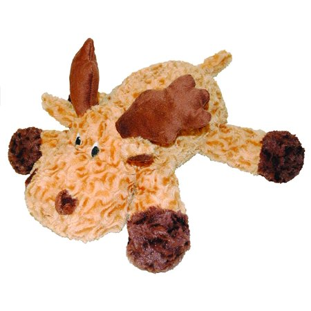 Swirl Moose 8-Inch Squeak Toy for Dogs, Made with durable plush swirl fabric By Patchwork Pet