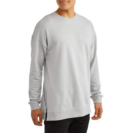 No Boundaries Men's Long Sleeve French Terry Crewneck T Shirt by No Boundaries