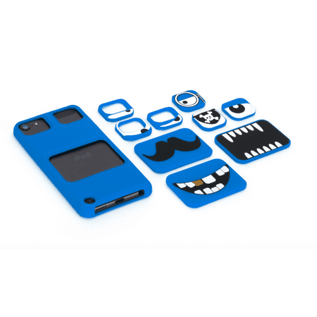 Griffin Faces for iPod touch (5th/ 6th gen.), blue, Swap out eyes & mouths for a case with real personality