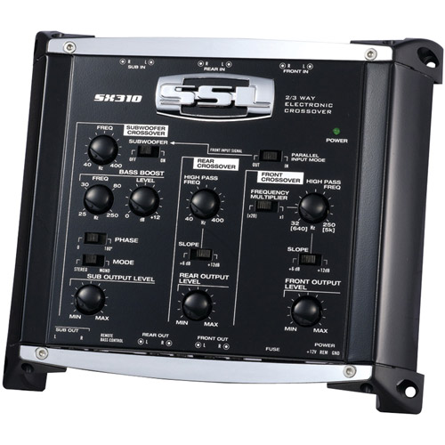 Soundstorm SX310 Electronic Crossover with Remote Subwoofer Level Control, 3 Way