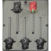 3328 Rose Lollipop Chocolate Candy Mold