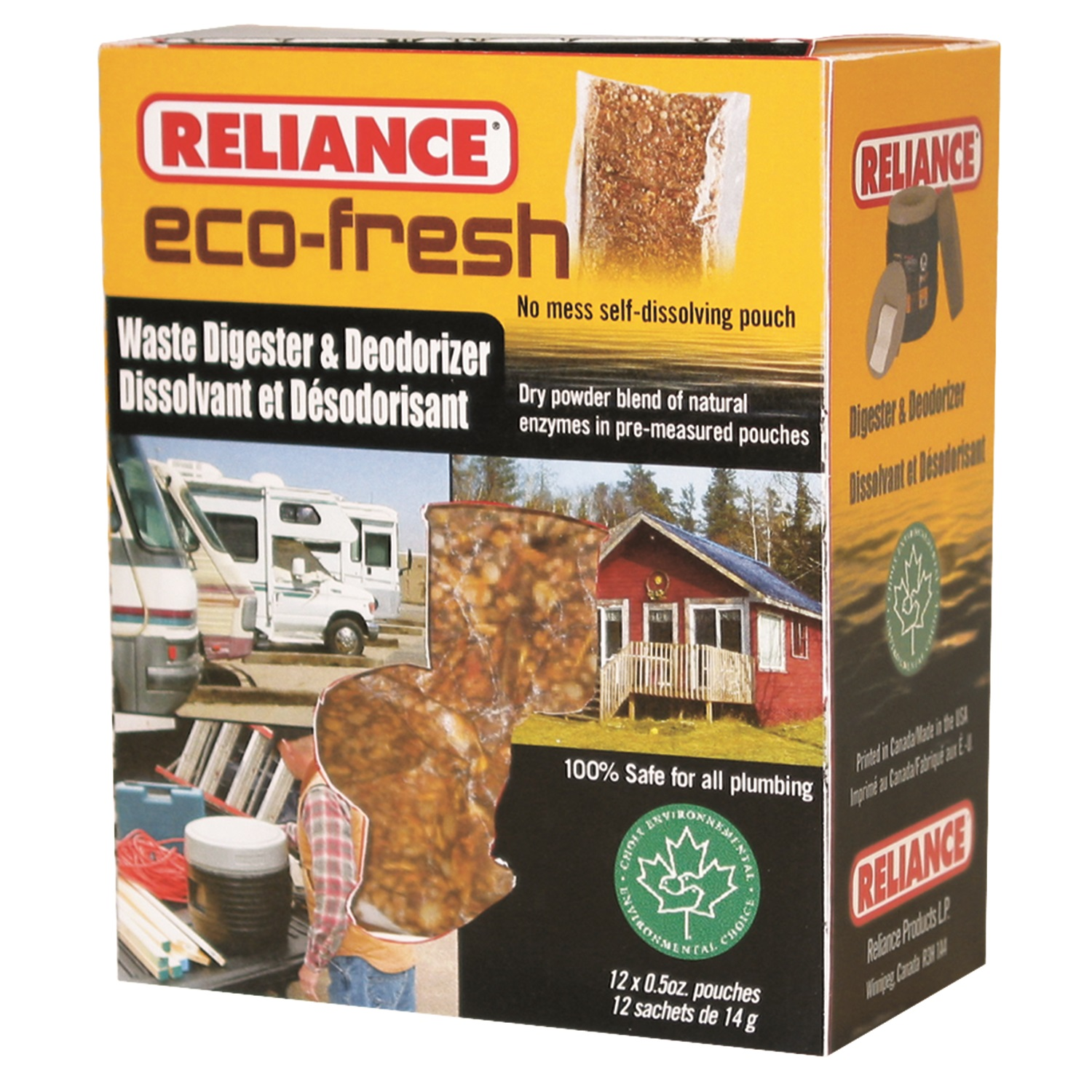 Reliance Eco-Fresh Toilet Deodorant and Digester 2692-03