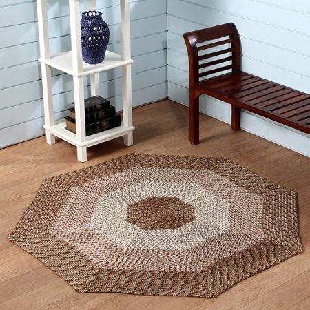 Better Trends Country Hand Braided Beige Area Rug