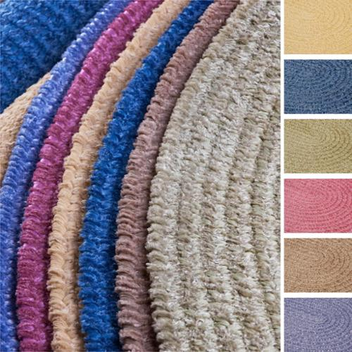 Colonial Mills Soft Chenille Braided Reversible Rug USA MADE - 6' x 9'