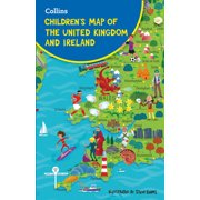 Collins Children's Map of the United Kingdom and Ireland