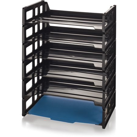 Officemate OIC Side Load Letter Tray, Black, 6/Pack - Oic Letter