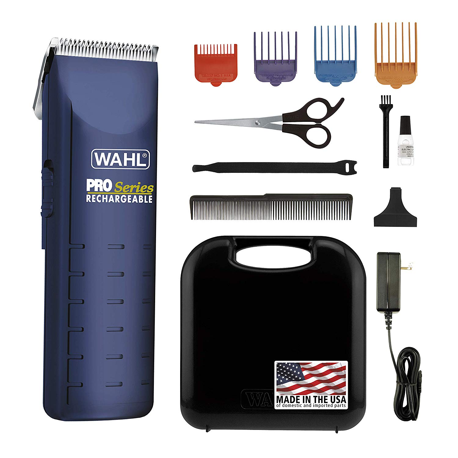 Wahl Home Pet Pro-Series Complete Pet Clipper Kit, for Pet Grooming, Trimming, and Touchups, Works Best on Fine to Medium Coated Dogs and Cats, or for Double Coated Clipping, 9590-210