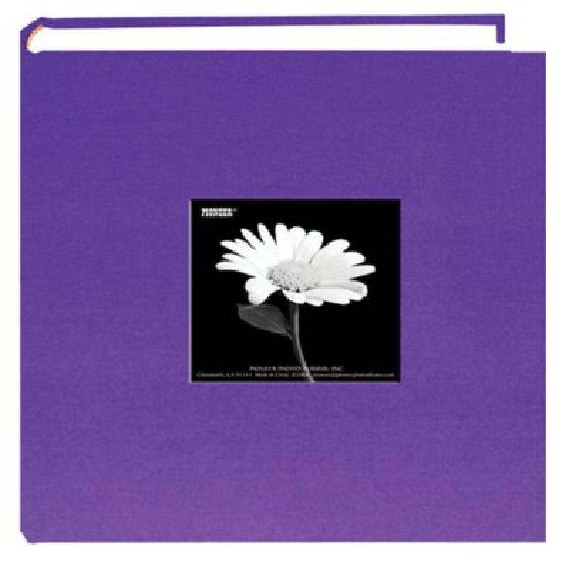 Fabric Frame Cover Photo Album 200 Pockets Hold 4x6 Photos, Grape Purple