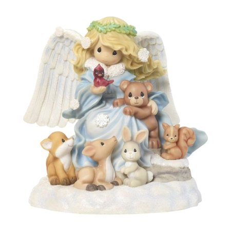 Precious Moments 181109 Joy To The World Musical Angel Figurine