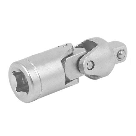 "1/4"" Square Driver Chrome Vanadium Steel 90 Degree Universal Joint Swivel Socket"
