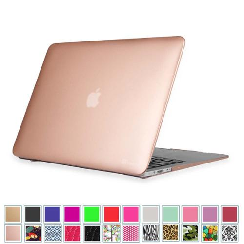 """Fintie MacBook Air 13.3"""" Case (A1466 / A1369) - Snap On Hard Shell Protective Cover, Rose Gold"""