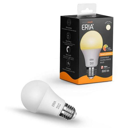 AduroSmart ERIA Soft White Smart A19 Light Bulb CRI 90+, 60W Equivalent, Hub Required