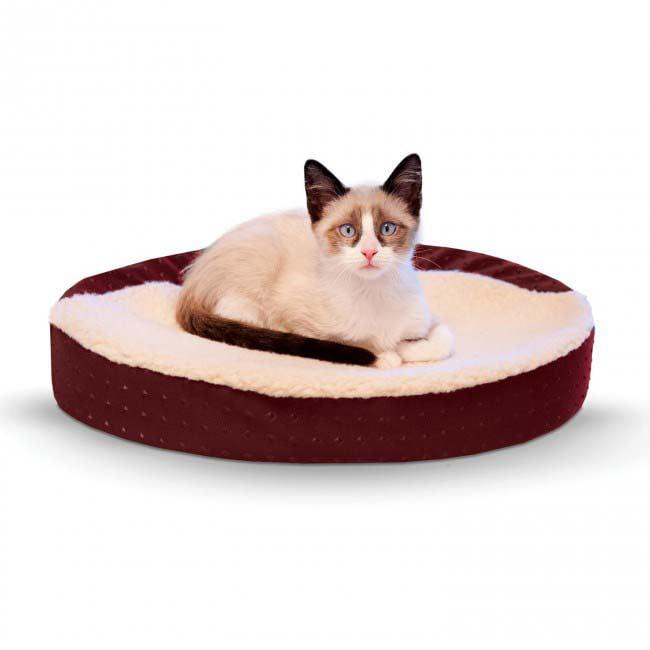 "K&H Pet Products Ultra Memory Oval Cuddle Nest, Blue, 13"" x 19"""