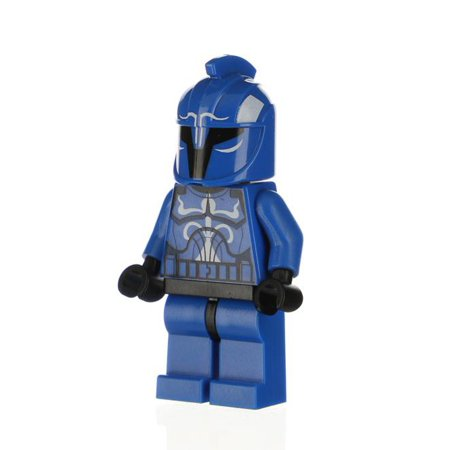 LEGO Star Wars The Clone Wars Senate Commando Captain Minifigure [Solid Blue Legs] [No Packaging] - Leg Wars