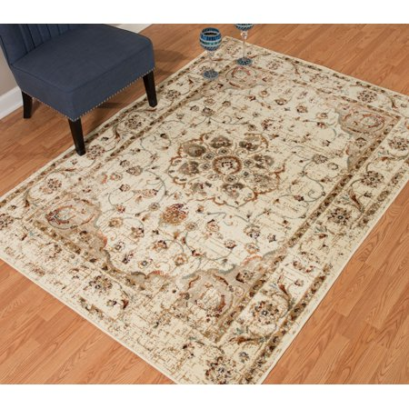 United Weavers Amarna Ponte Vecchio Distressed Linen Woven Olefin Area Rug or Runner
