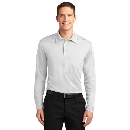 Port Authority K540ls Mens Silk Touch Performance Long Sleeve Polo Sport Shirt