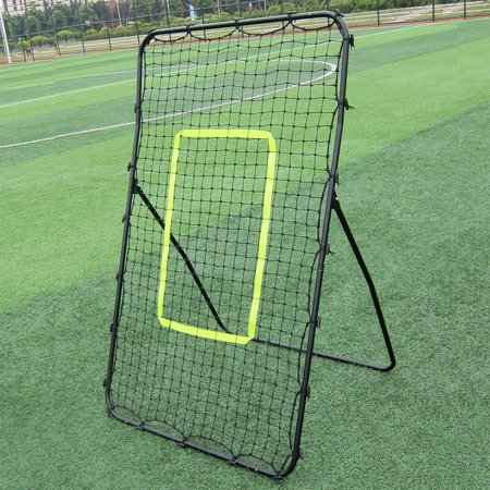Zimtown Rebound Soccer / Baseball Goal Softball Net, Skill Training Equipment, for Throwing Pitching Return Practice, Play Baseball Game