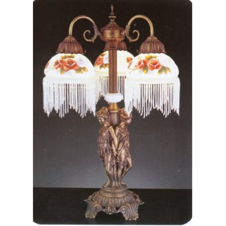 Meyda Tiffany 27085 Tiffany Three Light Table Lamp Walmart Com